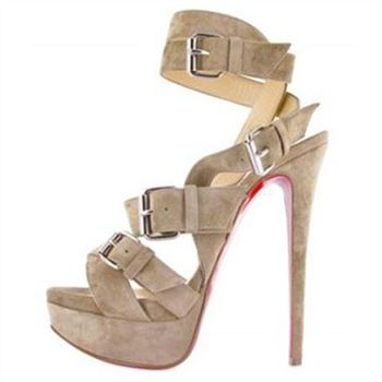 Christian Louboutin Toutenkaboucle 140mm Sandals Nude